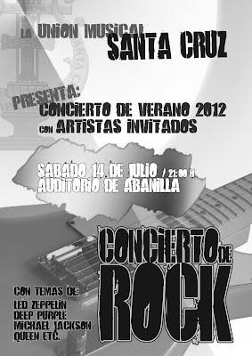 Cartel del Concierto de Rock