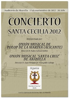 Cartel Concierto Santa Cecilia 2012