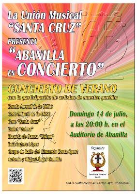 """Cartel """"Abanilla en Concierto"""""""