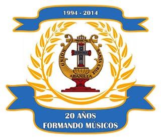 Logo 20 aniversario. UMSC 20 años formando músicos