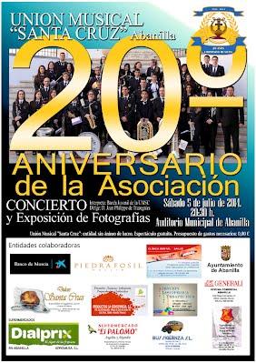 Cartel Concierto 20 aniversario