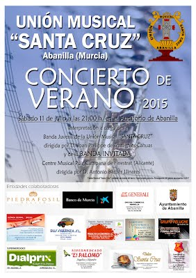 Cartel Concierto de verano 2015