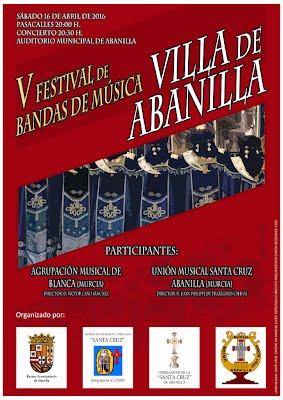 "Cartel del V Festival de Bandas de Música ""Villa de Abanilla"""