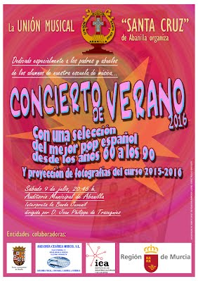 Cartel Concierto de verano 2016