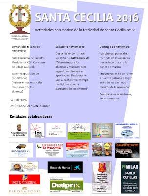 Cartel actividades Santa Cecilia 2016