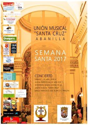 Cartel del concierto de Semana Santa 2017