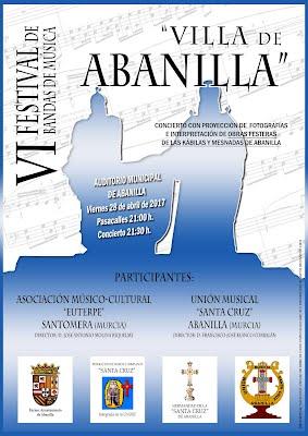 """Cartel VI Festival de Bandas """"Villa de Abanilla"""""""