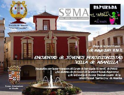 Cartel del Encuentro de Jóvenes percusionistas Villa de Abanilla 2017