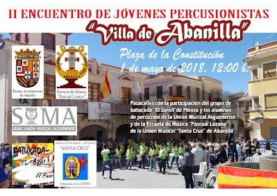 Cartel Encuentro percusionistas 2018