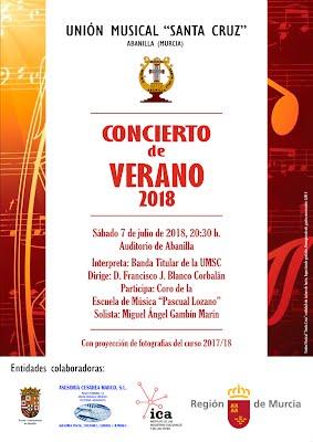 Cartel concierto de verano 2018